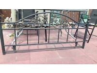 """Gold and black metal headbord for 4ft 6 """"bed"""