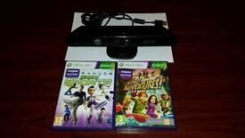 Xbox 360 Kinect sensor & 2 games.