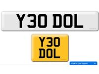 Y30 DOL private cherished personalised personal registration plate number