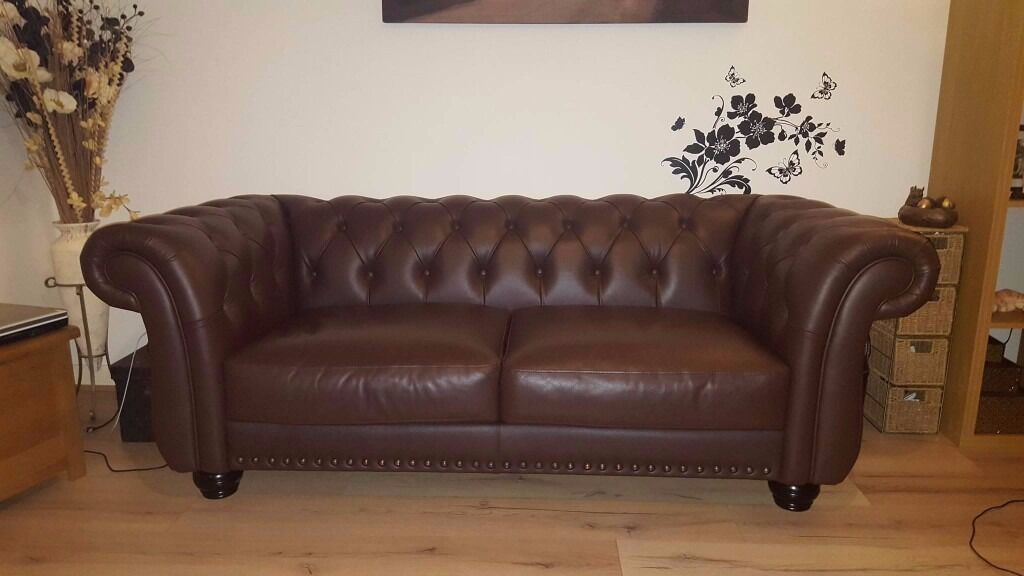 leather chesterfield sofa new price in paisley renfrewshire gumtree. Black Bedroom Furniture Sets. Home Design Ideas