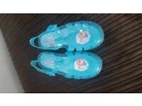 Girls Jelly Shoes Disney Frozen Size 12 Like New
