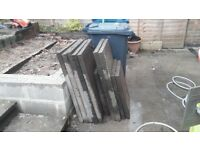 7 Reclaimed Concrete Paving Slabs