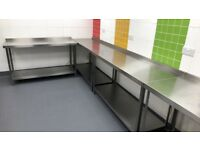 Parry Stainless Steel Wall Table