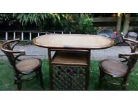 Bamboo Table Set