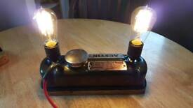 Upcycled vintage industrial Austin Rocker Cover lamp