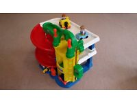 Fisher-Price Little People Racing' Ramps Garage for sale in used but good condition.