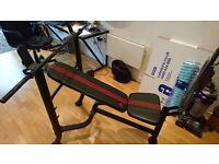 Excellent condition Adidas weights bench with 65kg weights included