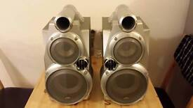 JVC speakers (2) with original box.