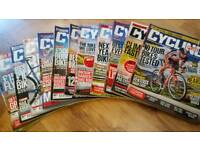 Free!!!! 12 editions of ' Cycling Plus' magazines