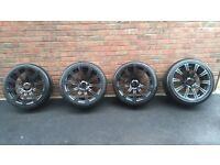 "BMW E92 M3 monte carlo edition style 220 black 19"" alloy wheels & tyres"