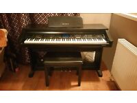 Technics digital piano with stool