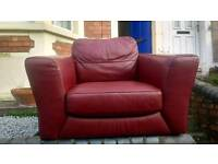 Leather chair - free to a good home.