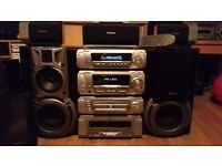 Technics 5 Disk Dvd/Cd Surround Sound Stereo
