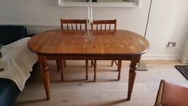 Extendable John Lewis Dining Table & 4 Chairs
