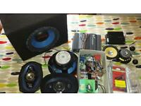 "Car Stereo Job Lot - Amps, subs, 6x9"", 5"" + component speakers"
