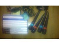 OVER 50+ VARIOUS TYPES OF PLAYSTATION 2 PS2 GAMES WITH 4 MICROPHONES FOR THE SINGSTAR GAMES