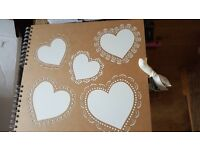 Brand new Paperchase love heart photo album/signing book