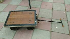 Vintage Gold Bullion Trolley, Mahogany and Steel