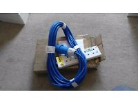 Camp-Site Tent Electric HOOK-UP lead ALL LENGTHS BANK HOLIDAY / LEEDS FESTIVAL/ GLASTONBURY / EVENT