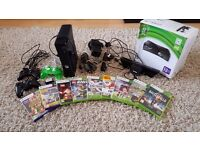 Xbox 360 250Gb Console With Kinect, 3 Controllers and Selection of Games
