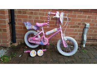 "Girls Bike Enchanted Dreams Disney Princess 14"" Wheel"