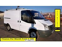 Ford Transit Van 2.2 300 -1 Owner Ex BT- FSH 8 Stamps -1YR MOT-75K Miles Only - ELEC WINDOW 260 280