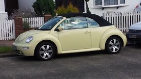 Pastel Yellow VW Cabriolet Convertible 2.0 Petrol