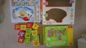 Toys bundle Shape sorting&puzzle blocks and letters learning machine plane