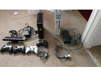 Xbox 360 + 4 Controlers + 33 Games bundle