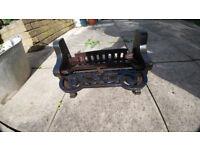 Cast iron Victorian fire insert/grate