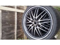 18 inch Alloys with fresh tyres