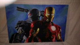 Acrylic marvel Ironman painting
