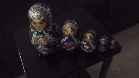Russian Doll orniments x5