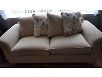 3 Seater Sofabed Fabric Cream