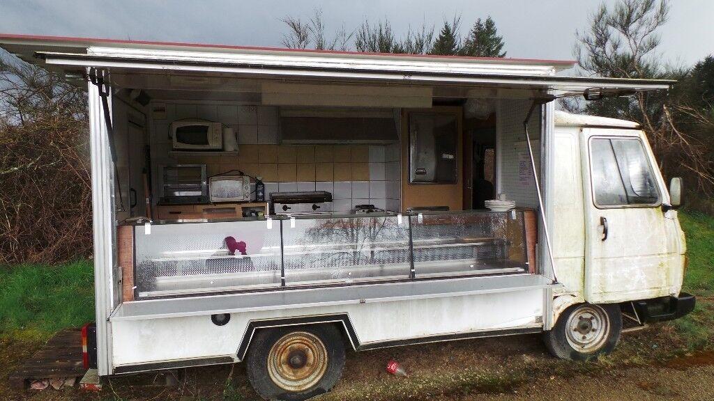 original classic 1987 french peugeot j9 food truck van. Black Bedroom Furniture Sets. Home Design Ideas