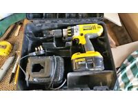 Dewalt 18v Drill with good Battery and charger