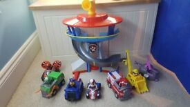 Paw patrol lookout, figures and vehicles