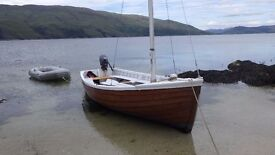 Traditional Cinker built 17 foot sailing Boat.