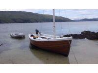 Traditional Cinker built 17 foot sailing Boat.