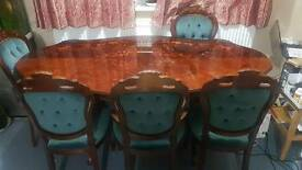 ITALIAN ROCOCO STYLE Dining Table with 6 chairs