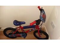 Kids bike spiderman