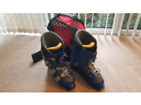 Ski Boots, Mens, Mondo 27.0 (approx. UK Size 8 1/2) and Boot Bag