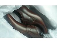 Clarks Leather Grant Walk Brown Vintage Shoes Mens UK 8