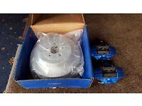 Rear subaru brembo calipers and new discs