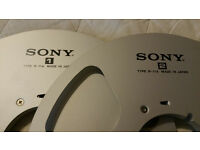 "SONY TYPE R- 11A ""MINT"" Made in JAPAN REEL TO REEL (PAIR = 1 + 2) MINT"