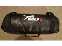 Power Cloth Wolf X Sand Filled Bag Cross Fit Bag Exercise Training MMA Wt 20kg