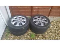 4 steal wheels with tires 165/60/r14