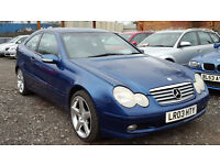 Mercedes Benz C Class C220 CDI DIESEL AUTOMATIC Coupe Blue HPI CLEAR auto