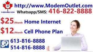 Unlimited 75M Internet $30/month with FREE wifi modem, NO Contract.Please Call/SMS 416-422-2222 or 613-816-8888 to order