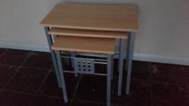 BEECH EFFECT NEST OF TABLES